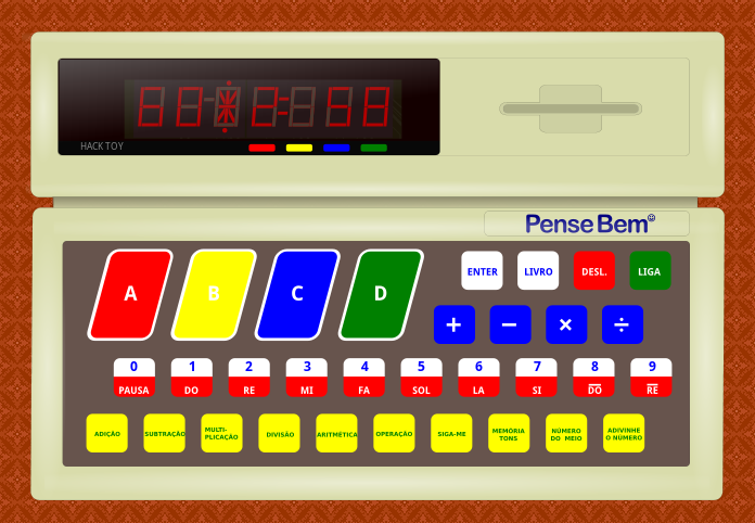 screenshot of the PenseBem simulator