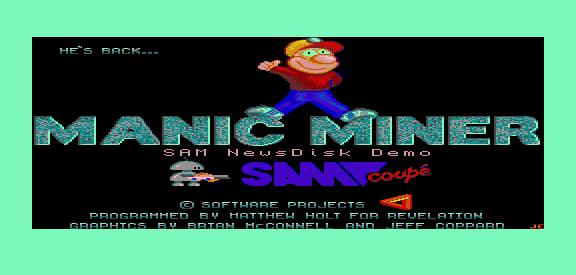 Sam Coupe Manic Miner
