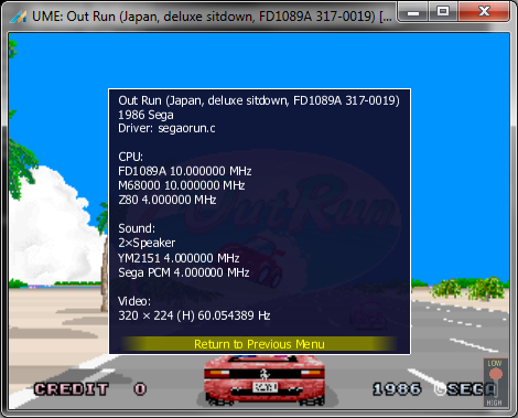 Outrun (with FD1089A)