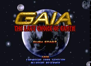 Gaia - The Last Choice of Earth