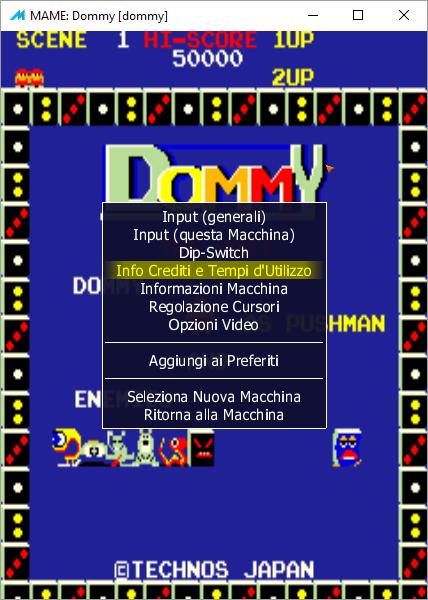 MAME Interface in Italian