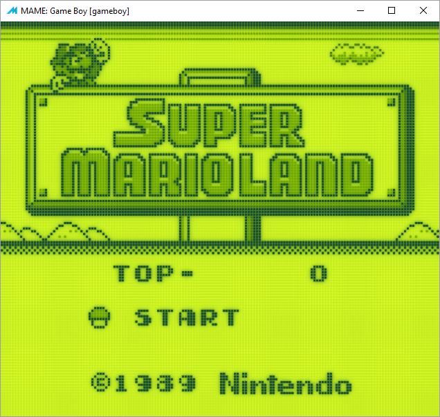 Super Mario Land (GameBoy) HLSL