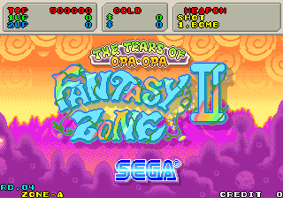 Fantasy Zone 2 (System 16C) original version