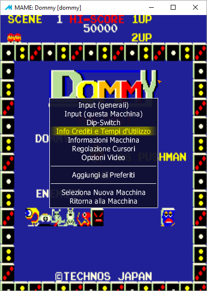 MAME Interface in Italian