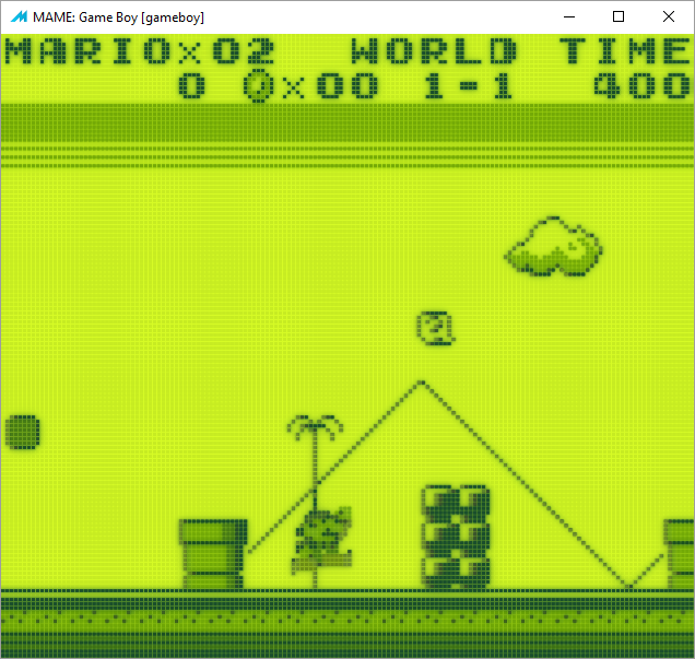 Super Mario Land (GameBoy) HLSL