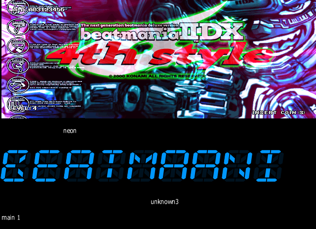 Here is beatmania IIDX 4th style