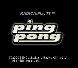 Radica Ping Pong